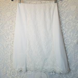 60s Van Raalte Nylon Half Slip White Lace